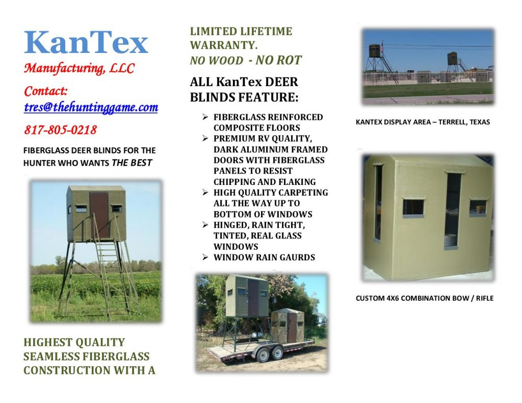 KanTex Trifold Product Brochure
